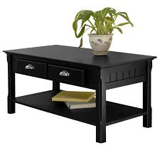 coffee table with drawers black storage c