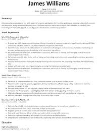 Server Resume Sample Resumelift Com