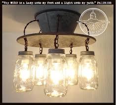 An Exclusive Lamp Goods' Mason Jar LIGHT 5-Light