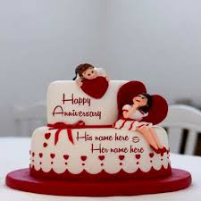 Romantic Anniversary Cake Birthday Images For Lover With Name My