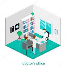 Doctor Consultation Room Design Medical Consultation Interior O Stock Vector Reenya