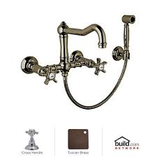 Small Picture brass kitchen faucets Wall Mount Kitchen Faucet With Spray Wall
