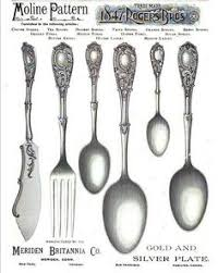 1847 Rogers Bros Patterns Inspiration 48 AD 48 Rogers Bros Flatware Silverware Tipped Shell Hoffman