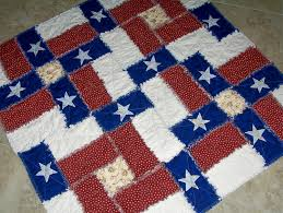 TEXAS FLAG RAG Quilt Pattern Can be made with regular cottons or ... & TEXAS FLAG RAG Quilt Pattern Can be made with regular cottons or flannels  Original pattern Adamdwight.com