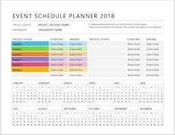 Planner Schedule Template Event Planner Schedule Template Clickstarters
