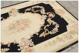 aubusson rug 5x8 pastel black pink ivory