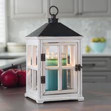 amazing decoration white wood lantern candle warmers etc 13 in weathered white candle warmer lantern