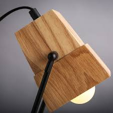 Us 20556 Creative Diy Assembles Wooden Desk Light Table Lamp Iron Holder With Ventilation Holes Bar Study Decor Lights Free Shipping In Desk Lamps