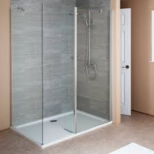 Hydrolux 1400 x 900mm Walk In Shower Enclosure - 6mm Glass with Tray (Left  Hand Entry)