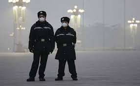 Environmental Police Officer Choked By Smog Beijing Creates New Environmental Police