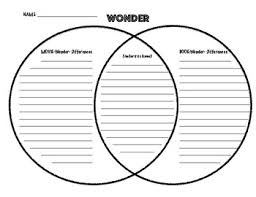 Book Vs Movie Venn Diagram Wonder Book And Movie Venn Diagram Compare And Contrast
