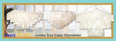 large long jumbo size hanging capiz chandelier lighting collection for home and hotel ceiling made of capiz shell in chrome plated metal frames