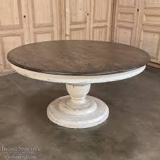 round reion painted pedestal dining table