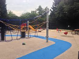 The finishing touches are being put on the newly renovated Volta Park  playground. Kids already are playing on the new equipment and the remaining  work ...