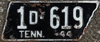 1944 tennessee license plates