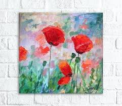 poppy kitchen red flowers painting small oil paintings on canvas original artwork poppy fl art poppies kitchen red poppy kitchen rug