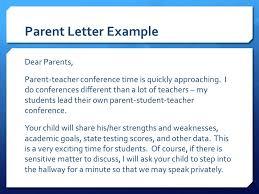 parent teacher conference letter to parents examples conference letters to parents magdalene project org