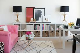 workspace beauteous feminine home office decors thinkter black table lamps with pink sofa and inspiring beauteous home office