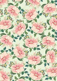 flowers bedding green background pale
