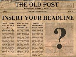 Editable Old Newspaper Template Editable Old Newspaper Template One Of A Number Of Nice