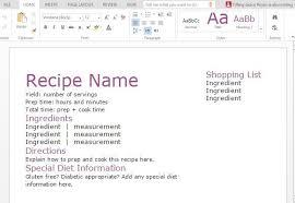 Recipe Template For Word Word Recipe Template Nicosy Info
