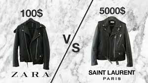 5000 vs 100 leather jacket saint lau l17 zara