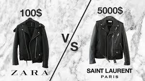 5000 vs 100 leather jacket saint lau l17 zara