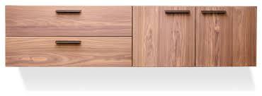modern storage cabinets. blu dot shale 2 door / drawer wall-mounted cabinet, light walnut modern storage cabinets i