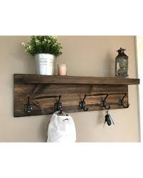 Image Entryway Storage Tyler Entryway Coat Rack With Large Shelf Wall Decor With Hooks Coat Hanger More Score Big Savings Tyler Entryway Coat Rack With Large Shelf Wall