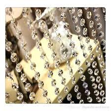 acrylic chandelier beads best wedding supplies feet crystal clear acrylic beads chains acrylic crystal garland hanging