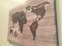 world map reclaimed barn door wood string art wall decor 39 x 29 for string