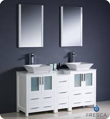 modern bathroom double sinks. Fresca Torino 60\ Modern Bathroom Double Sinks