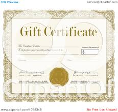 clipart gift certificate sample signatures royalty clipart gift certificate sample signatures royalty vector illustration by bestvector