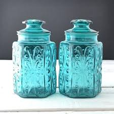 vintage kitchen canisters teal glass canisters vintage kitchen canisters by vintage kitchen storage containers