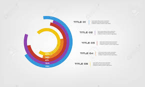 Circular Chart Color Infographics Step By Step In A Series Of