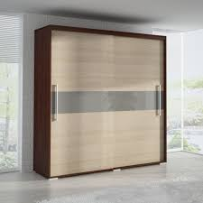 sliding mirror wardrobe doors blue and silver colors