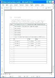 User Manual Template Word Technical Training It Sample Product