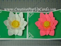How To Make A Lotus Flower Out Of Paper Mothers Day Lotus Flower Pop Up Card Tutorial Creative