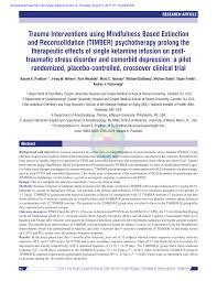 (PDF) Trauma Interventions using Mindfulness Based Extinction and ...