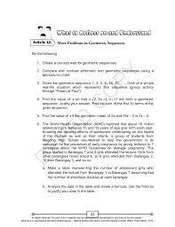 geometric sequence worksheet – streamclean.info