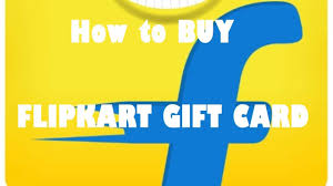 how to purchase flipkart gift card