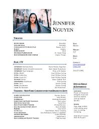 Acting Resume. JENNIFER NGUYEN LANGUAGES Fluent in Vietnamese & English,  Asian and American dialects (pick up