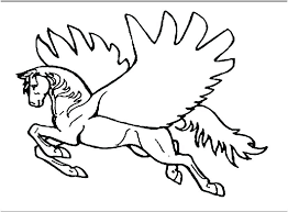 Barbie Pegasus Colouring Pages Coloring Pages Unicorn With Wings
