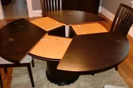 Expanding Round Dining Table Stylish Design Expandable Round Pedestal Dining  Table Attractive Designs