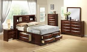 Brilliant Queen Storage Bedroom Set on Home Decor Ideas with Crown Mark  B4255 Q Set Emily 4 Pieces Brown Queen Storage Bedroom Set
