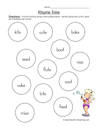 Rhyming Worksheets | Have Fun Teaching