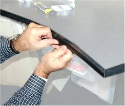 kitchen counter corner guards glass in countertop protector inspirations 4