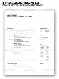3-piece Elegant Resume set