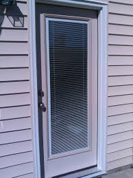 new low e glass full view exterior door with blinds in between the glass