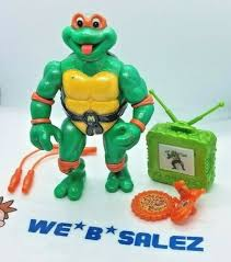 Tmnt Toon Mike 1992 Moc Ninja Turtles Playmates Toys Action Figure